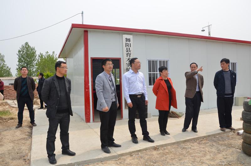 市县领导参观督导舞阳育才学校建设现场(图4)